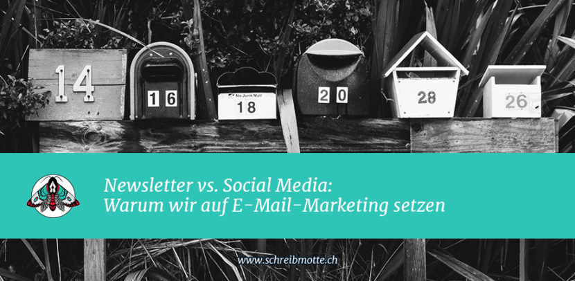 Newsletter vs. Social Media: Warum wir auf E-Mail-Marketing setzen